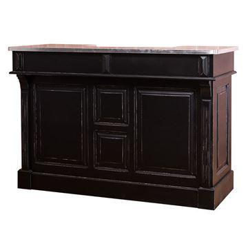 Bar lemn masiv 160 cm negru/zinc Martin