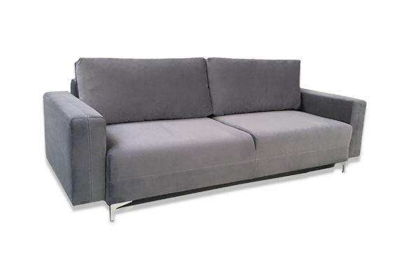 Canapea extensibilă 3 locuri gri închis Marsylia