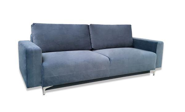 Canapea extensibilă 3 locuri albastru deschis Marsylia