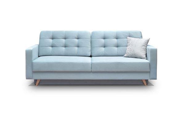 Canapea extensibilă 3 locuri albastru Vegas