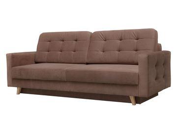 Canapea extensibilă 3 locuri maro Vegas