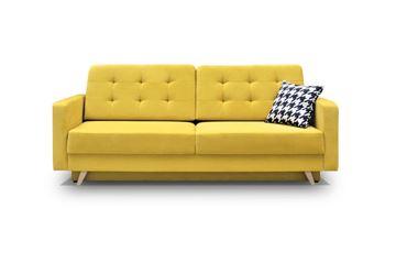 Canapea extensibilă 3 locuri galben Vegas
