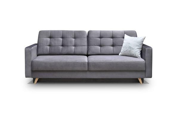 Canapea extensibilă 3 locuri gri Vegas