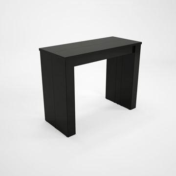 Consolă/masă dining extensibilă negru lucios Peninsule