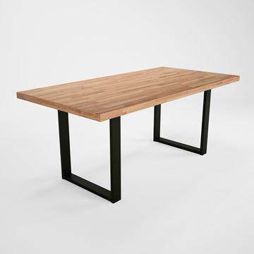 Masă fixă 180 cm, lemn masiv, picioare în formă de U, Concepto