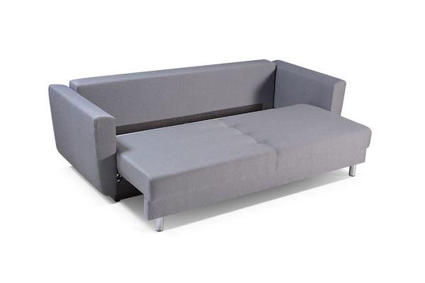 Canapea extensibilă 3 locuri gri deschis Samara