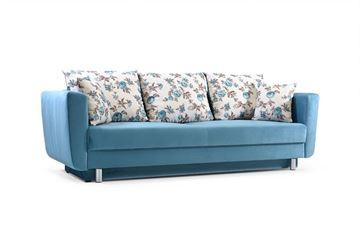 Canapea extensibilă 3 locuri albastru Samara