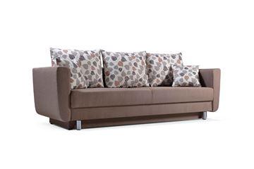 Canapea extensibilă 3 locuri maro Samara