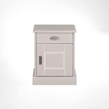 Picture of Noptieră 1 ușă, 1 sertar, gri deschis Khate
