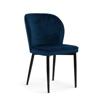 Scaun tapițat bleumarin/negru Aniel
