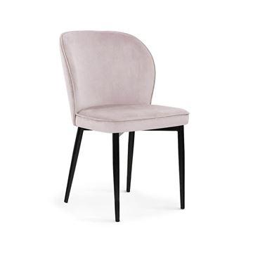 Scaun tapițat roz deschis/negru Aniel