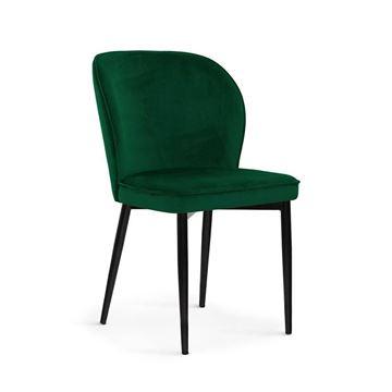 Scaun tapițat verde/negru Aniel