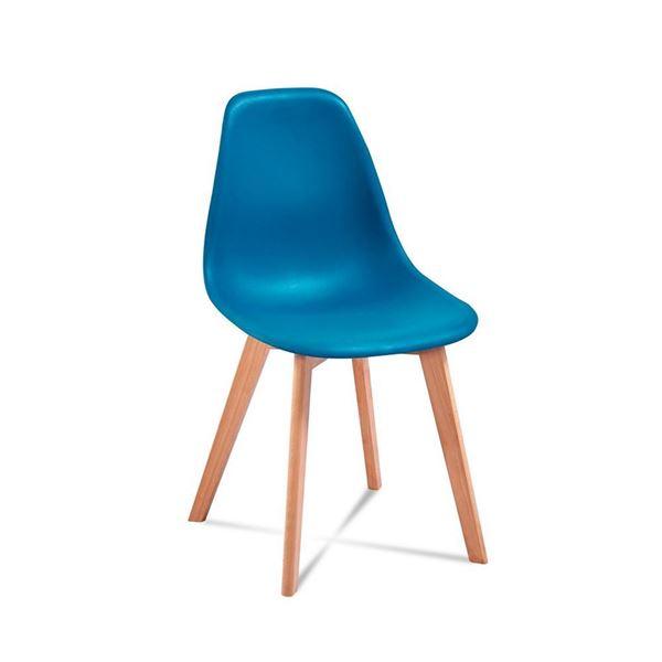 Scaun albastru/fag natur Edi