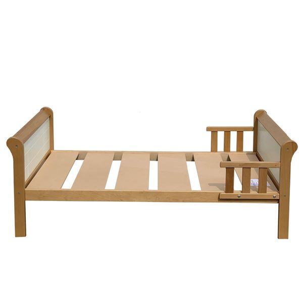 Pat copii 70 x 140 cm lemn alb/natur Poppy