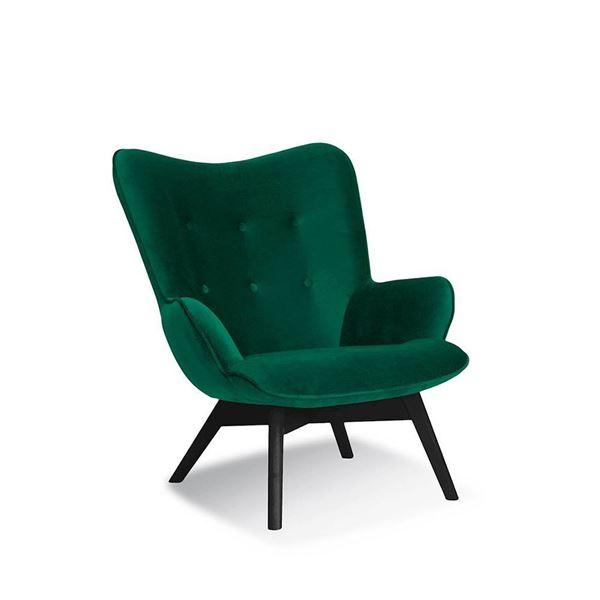Fotoliu verde/negru Cherub