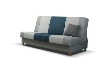 Canapea extensibilă 3 locuri albastru Twist