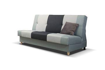 Canapea extensibilă 3 locuri negru Twist