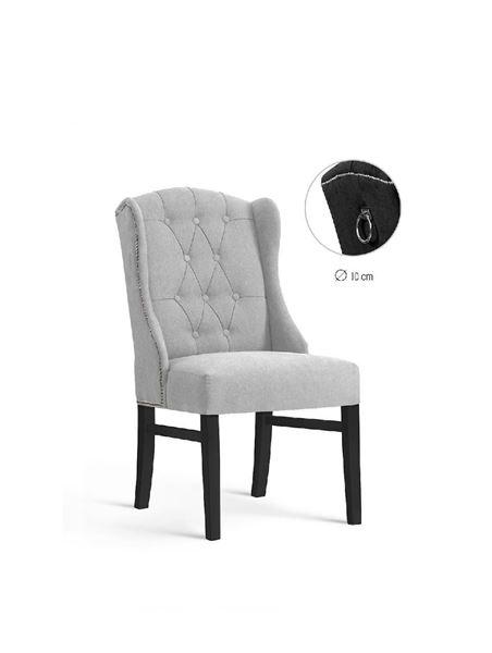Scaun tapițat gri deschis/negru Royal