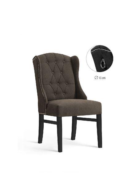 Scaun tapițat maro/negru Royal