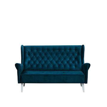 Canapea 2 locuri albastru inchis Carmen