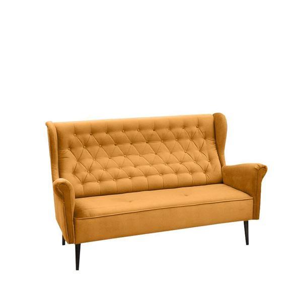 Canapea 3 locuri muștar Carmen