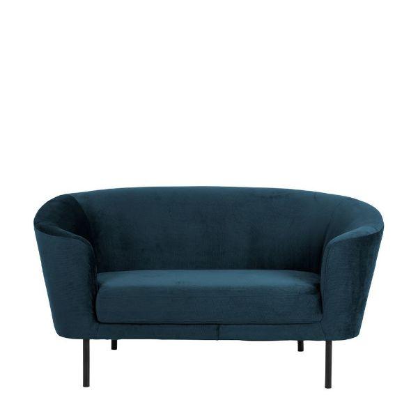 Canapea 2 locuri albastru închis Biloxi