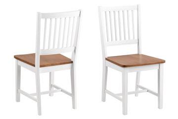 Set 2 scaune dining stejar natur/alb Brisbane