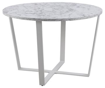 Masă dining rotundă marmură 110 cm alb/negru Amble
