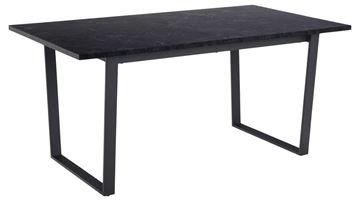Masă dining dreptunghiulară marmură 160 cm negru Amble