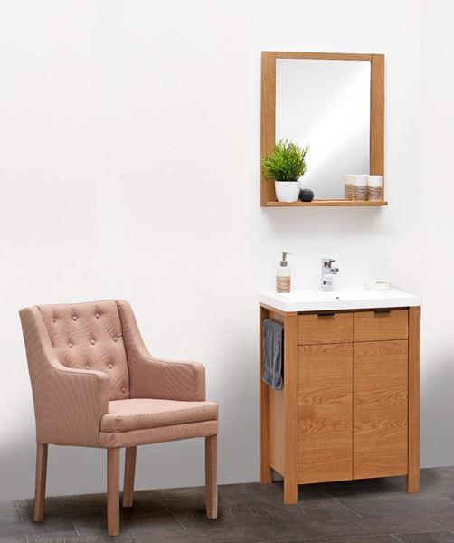 Set mobilier de baie stejar natur Marmar