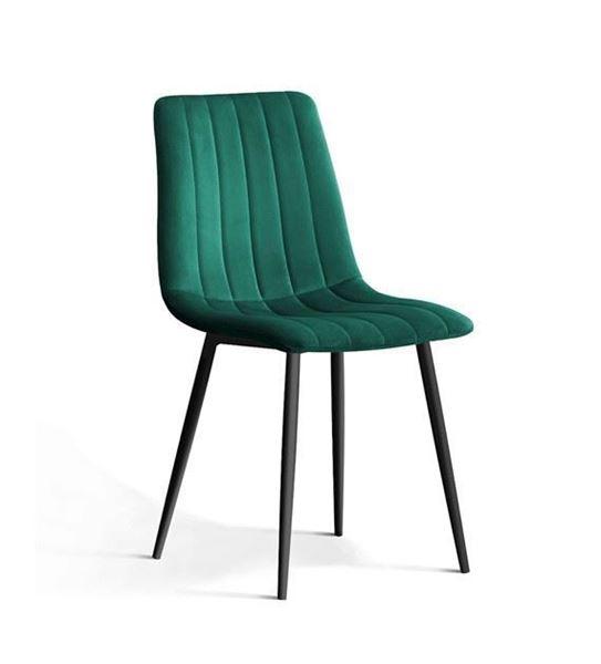 Scaun tapițat verde/negru Tux