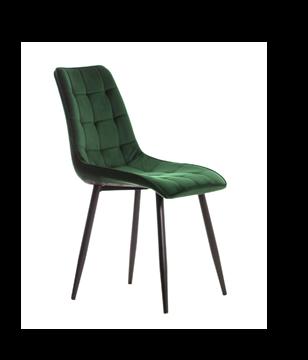 Scaun tapițat verde/negru Moli