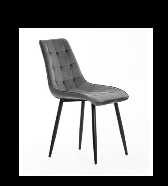 Scaun tapițat gri închis/negru Moli