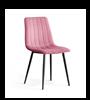 Scaun tapițat roz/negru Tux