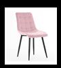 Scaun tapițat roz/negru Moli