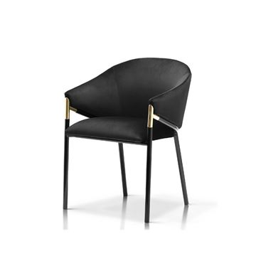 Scaun tapițat negru Fancy