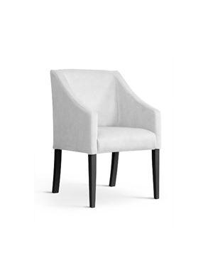 Scaun tapițat alb-argintiu/negru Caro