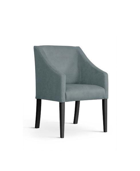 Scaun tapițat gri/negru Caro