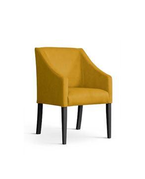 Scaun tapițat galben/negru Caro