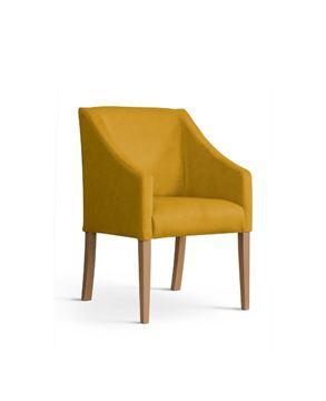Scaun tapițat galben/stejar Caro