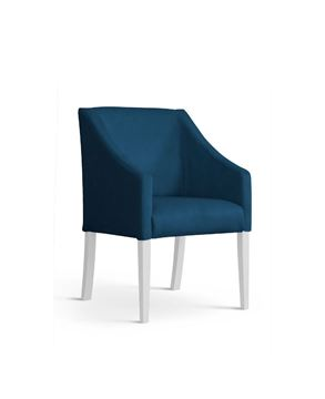 Scaun tapițat albastru/alb Caro
