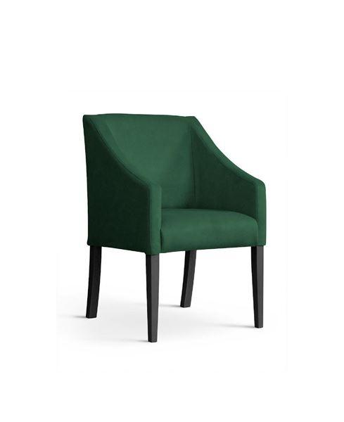 Scaun tapițat verde/negru Caro