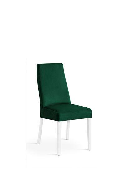Scaun tapițat verde/alb Vanila