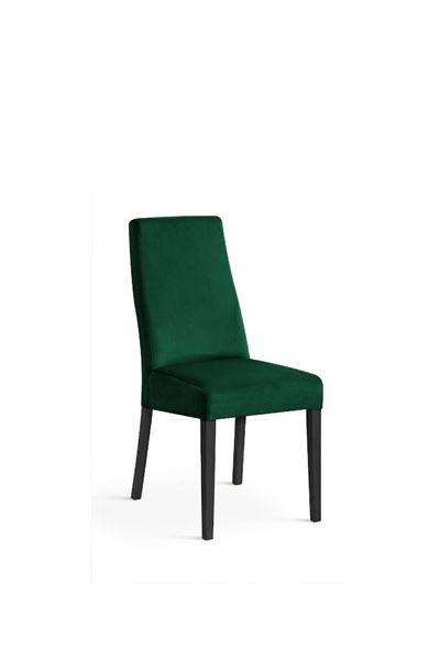 Scaun tapițat verde/negru Vanila