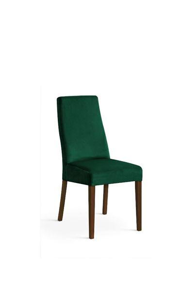 Scaun tapițat verde/nuc Vanila