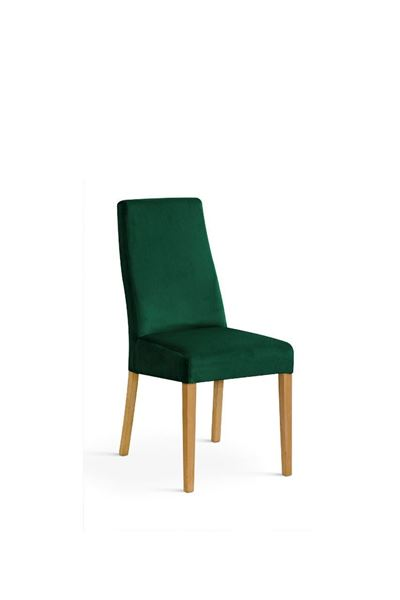 Scaun tapițat verde/stejar Vanila