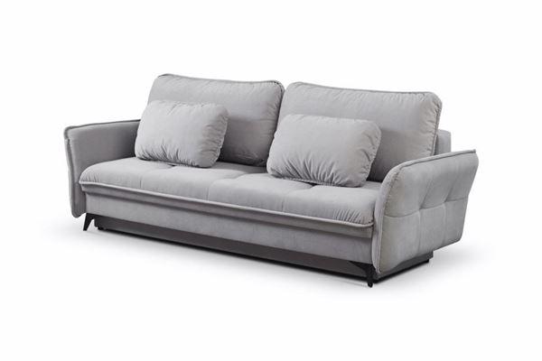 Canapea extensibilă 3 locuri gri Largo