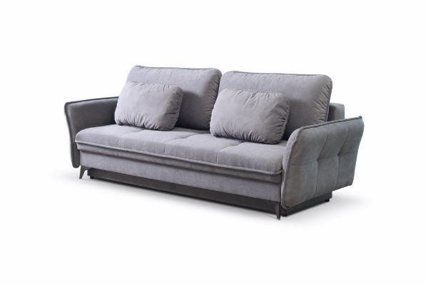 Canapea extensibilă 3 locuri gri închis Largo