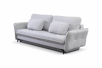 Canapea extensibilă 3 locuri gri deschis Largo