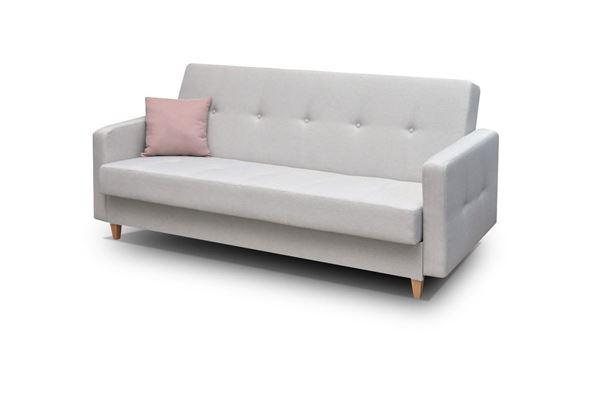 Canapea extensibilă 3 locuri gri deschis Tango
